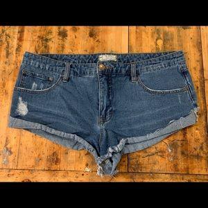 Free People Irreplaceable Denim Shorts 31